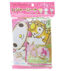 Sanrio My Melody Leisure Sheet Picnic Beach Mat Blanket (80 x 60cm) Japan Import