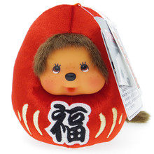 Japan Original Sekiguchi Monchhichi Red Daruma Lucky Dharma S 12cm Plush Doll Japan Import