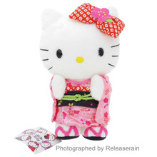 Sanrio Original Hello Kitty Japanese Kimono Stuffed Plush Doll SS Japan Import