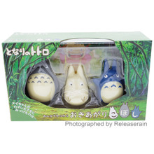 Ensky Studio Ghibli Totoro My Neighbor Roly-poly Toy Okiagari-koboshi Tumble Figure Doll Set of 3 Pieces Japan Import