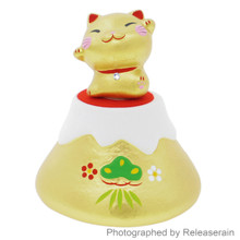 Craftman House Japanese Gold Ceramic Maneki Neko Lucky Cat Mt Fuji Figurine Set Japan Import