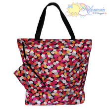 Releaserain Fantasy Dots Packable Folding Travel Beach Gym Shopper Tote Bag
