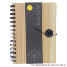 Biboroku Japanese Wooden Double-Ring String & Button A6 Diary Journal Notebook Made in Japan