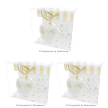 Artha 3D Lucite Clear Transparent Apple Fruit Card Stand Place Card Holder Set of 3 Pieces Japan Import