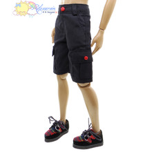 "Releaserain Doll Clothes Black Cargo Shorts Pants For 17"" Tonner Male Dolls with 17"" Matt O'Neill body"