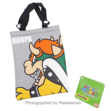 Hasepro Super Mario Koopa Grey Multi-Purpose Mini Bag Pouch Japan Import