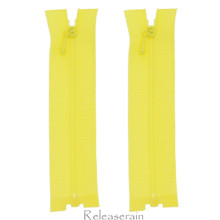"4"" Tiny Separating DIY Doll Clothes Jacket Nylon Coil Size #0 Open End Sewing Zippers Yellow Set of 2 Pieces"