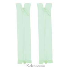 "4"" Tiny Separating DIY Doll Clothes Jacket Nylon Coil Size #0 Open End Sewing Zippers Mint Green Set of 2 Pieces"