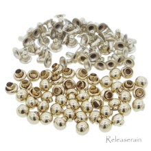 3mm Tiny K/Old Gold Brass Mushroom Round Dome Rivets For DIY Doll Clothes Sewing Craft 50 Sets