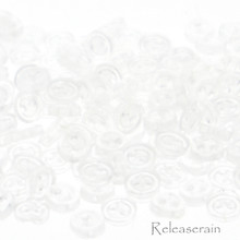 Releaserain 3mm Clear Transparent Tiny Round Doll Clothes Sewing Buttons with Rim Set of 50
