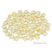 4mm Star Shaped DIY Doll Clothes Sewing Sew On Plated Metal Miniature Buttons Gold 60pcs