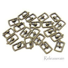 Outer 10×6.5mm Inner Diameter 4mm DIY Doll Clothes Sewing Plated Metal Belt Buckles Bronze 20pcs