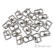 Outer 10×6.5mm Inner Diameter 4mm DIY Doll Clothes Sewing Plated Metal Belt Buckles Charcoal 20pcs