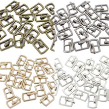Outer 10×6.5mm Inner Diameter 4mm DIY Doll Clothes Sewing Plated Metal Belt Buckles Bronze Charcoal Gold Silver 4 Colors Each Color 10 Pieces (Total 40 Pieces)