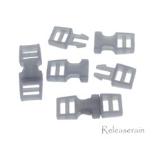 Outer 6x16mm Inner Diameter 4mm DIY Doll Clothes Sewing Plastic Side Release Buckles Grey 20pcs