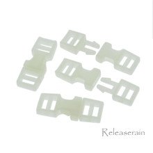 Outer 6x16mm Inner Diameter 4mm DIY Doll Clothes Sewing Plastic Side Release Buckles Yogurt White 20pcs