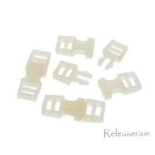 Outer 6x16mm Inner Diameter 4mm DIY Doll Clothes Sewing Plastic Side Release Buckles Beige 20pcs
