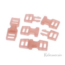 Outer 6x16mm Inner Diameter 4mm DIY Doll Clothes Sewing Plastic Side Release Buckles Pink 20pcs