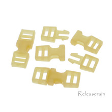 Outer 6x16mm Inner Diameter 4mm DIY Doll Clothes Sewing Plastic Side Release Buckles Orange 20pcs