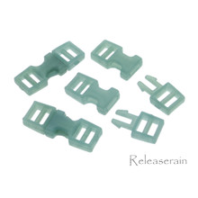 Outer 6x16mm Inner Diameter 4mm DIY Doll Clothes Sewing Plastic Side Release Buckles Green 20pcs