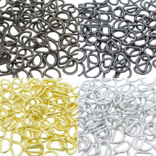 6mm Inner Diameter DIY Doll Clothes Sewing Metal D Ring Buckles 4 Colors Each Color 50 Pieces (Total 200 Pieces)