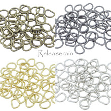 4mm Inner Diameter DIY Doll Clothes Sewing Metal Tiny D Ring Buckles 4 Colors Each Color 20 Pieces (Total 80 Pieces)