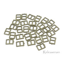 5x6mm Inner 3mm DIY Doll Clothes Sewing Bronze Metal Rectangle Claw Belt Buckles 30pcs