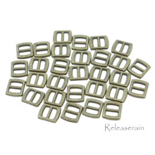 5x6mm Inner 3mm DIY Doll Clothes Bronze Sewing Metal Rectangle Slide Belt Buckles 30pcs
