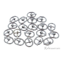 8×10.5mm Inner Dia 5.5mm DIY Doll Clothes Charcoal Sewing Metal Oval Belt Buckles 20pcs