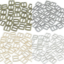 5x6mm Inner 3mm DIY Doll Clothes Sewing Metal Rectangle Slide Belt Buckles 4 Colors 10pcs Each Color Total 40pcs