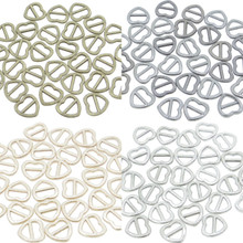 7x7mm Inner Dia 4mm DIY Doll Clothes Sewing Metal Heart Slide Belt Buckles 4 Colors 10pcs Each Color Total 40pcs