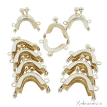 3.2cm Purse Frame Mini Metal Kiss Lock Clasp Gold 10pcs For DIY Craft 1/6 Scale Doll Bags