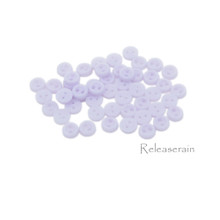 Releaserain 3mm Lavendar Tiny Round Doll Clothes Sewing Plastic Buttons with Rim Set of 50