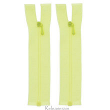 "4"" Tiny Separating DIY Doll Clothes Jacket Nylon Coil Size #0 Open End Sewing Zippers Lemon Yellow Set of 2 Pieces"