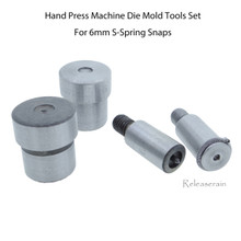 Hand Press Machine Die Mold Tools Set For 6mm S-Spring Snap Fasteners