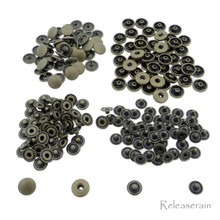 8mm Bronze Brass S-Spring Press Studs Popper Snap Fasteners 50 Sets For DIY Doll Clothes