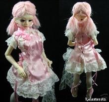 Unoa Yo-SD Dollfie Milk Pink Wavy Pigtails 6-7 Wig 6077