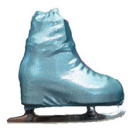Metalic Figure Skating Boot Covers by Kami-So - Metallic Turquoise