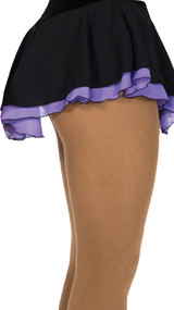 305 Jerry's Double Georgette Skirt - Black/Purple