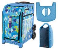 Zuca Sport Bag - Be Zappy  with Gift Stuff Sack and Seat Cover (Blue Frame)