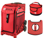 Zuca Sport Bag - Chili  with Gift Lunchbox and Seat Cover (Red Frame)