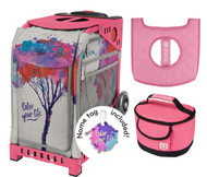Zuca Sport Bag - Color Your Life with Gift Lunchbox and Seat Cover (Pink Frame)