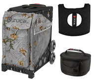 Zuca Sport Bag - Realtree Xtra Colors - Frost Gray with Gift Lunchbox and Seat Cover (Black Frame)