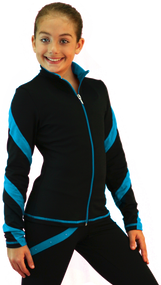 ChloeNoel J636F Fleece Figure Skating Jacket