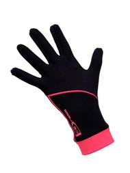 """Icedress - Thermal Figure Skating Gloves """"IceDress"""" (Black and Hot Coral)"""