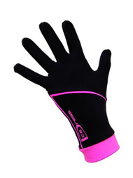 """Icedress - Thermal Figure Skating Gloves """"IceDress"""" (Black and Hot Pink)"""