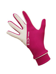 """Icedress - Two Color Thermal Figure Skating Gloves """"IceDress-Sport"""" (Fuchsia and White)"""