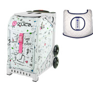 Zuca Sport Bag - Sk8 with Gift  Seat Cover (White Frame)