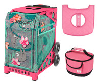Zuca Sport Bag -  Peek-a-Boo Friends with Gift Lunchbox and Seat Cover (Pink Frames)