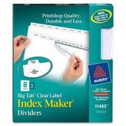 Avery Big Tab Index Maker Clear Label Dividers - 1